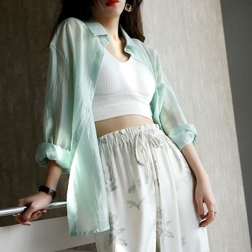 3色/テンセルライトカジュアルシャツ ・2356