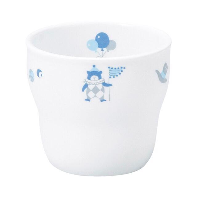 強化磁器 持ちやすい乳児用カップ(φ7cm×H6cm/満水150cc) シルク【1986-1300】