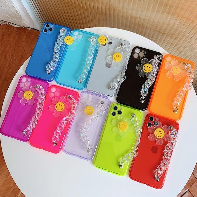 Fluorescent flower chain iphone case