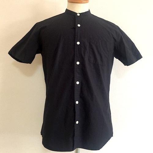 Typewriter Band Collar Shirts Navy