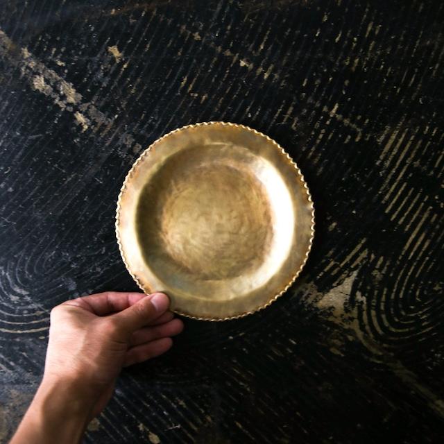 藤田 永子 - 真鍮リム皿 (小)  (made in Japan)