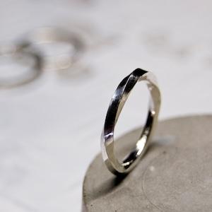 シルバーツイストリング 2.0mm幅 鏡面 3号~27号 WKS TWIST RING 2.0 sv mirror SILVER950 銀 指輪 FA-267