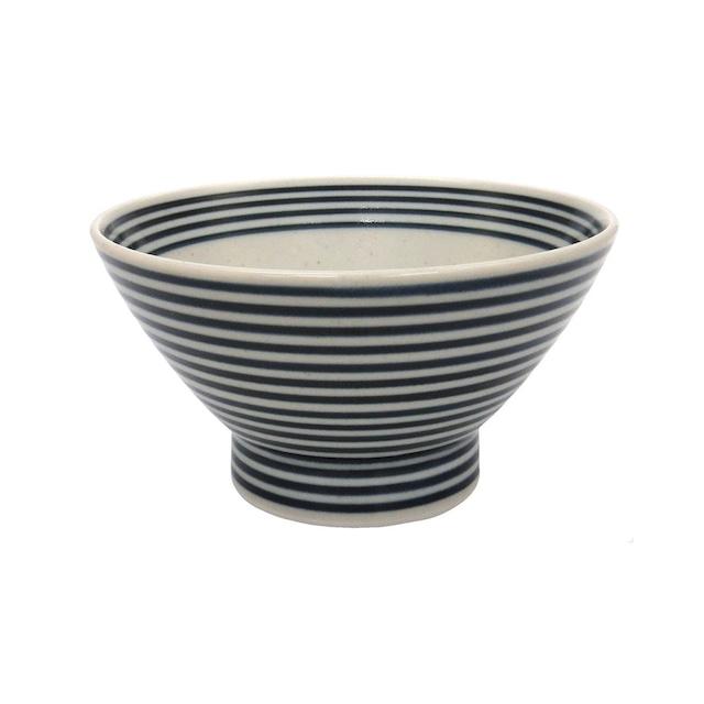 波佐見焼 24to3 和山窯 くらわんか 飯碗 茶碗  約12cm 藍駒 446013