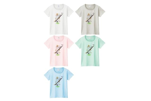 ファゴット猫のTシャツ