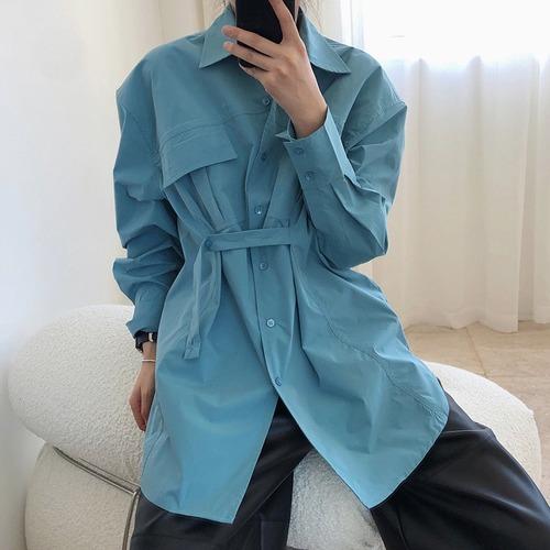 2色/ウエストドロストロングシャツ ・1290