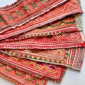 ベトナム民族衣装のアンティークリボン④
