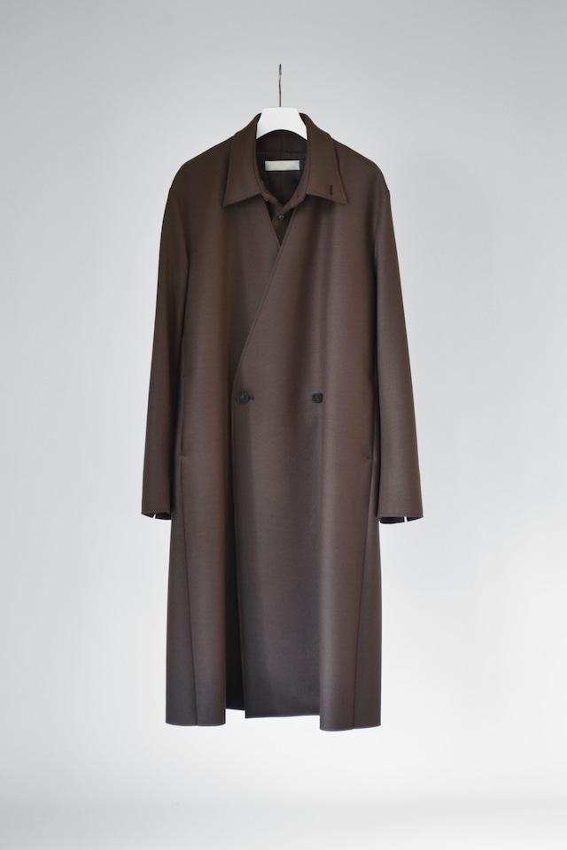ETHOSENS  layered wool coat   brown