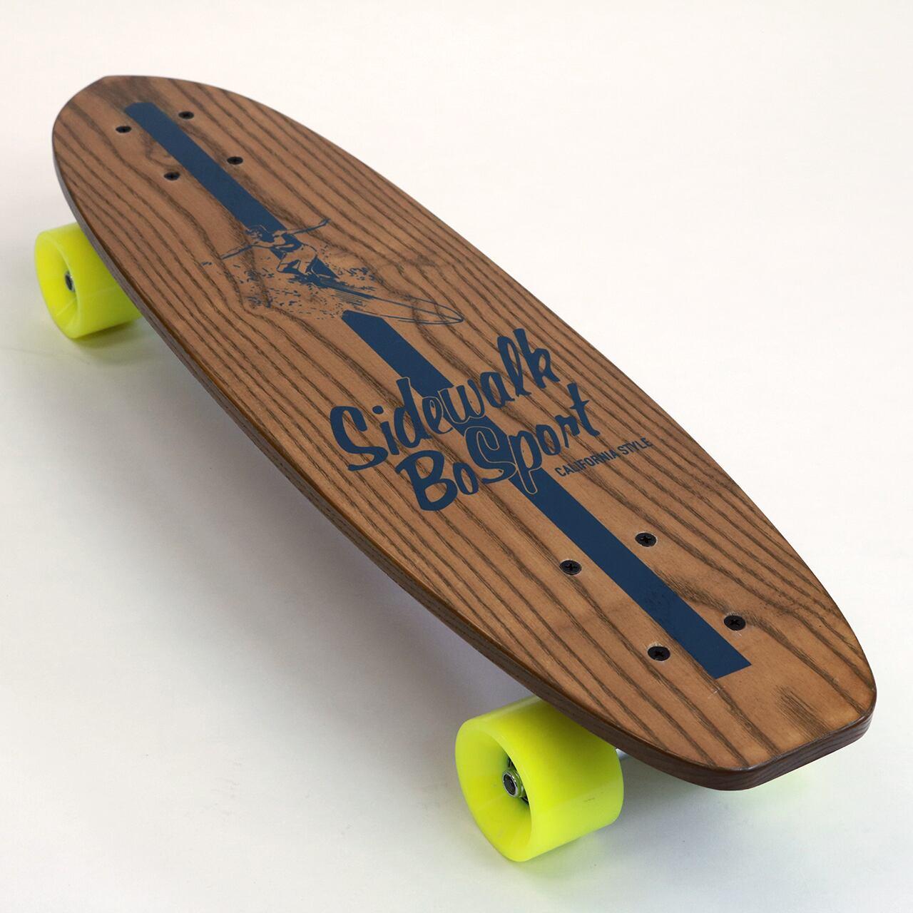 """BO SPORT """"Sidewalk Surfing"""" Skateboard (Brown)"""