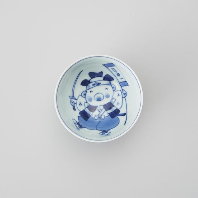 """【青花Kids】""""童話"""" 3.5寸丸飯碗(桃太郎)"""