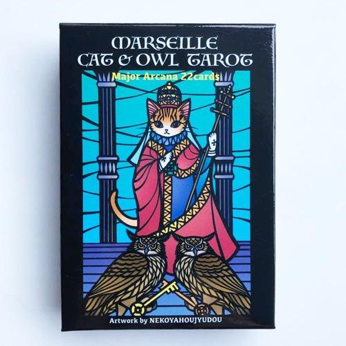 猫屋芳樹堂「ネコとフクロウのタロットカード」