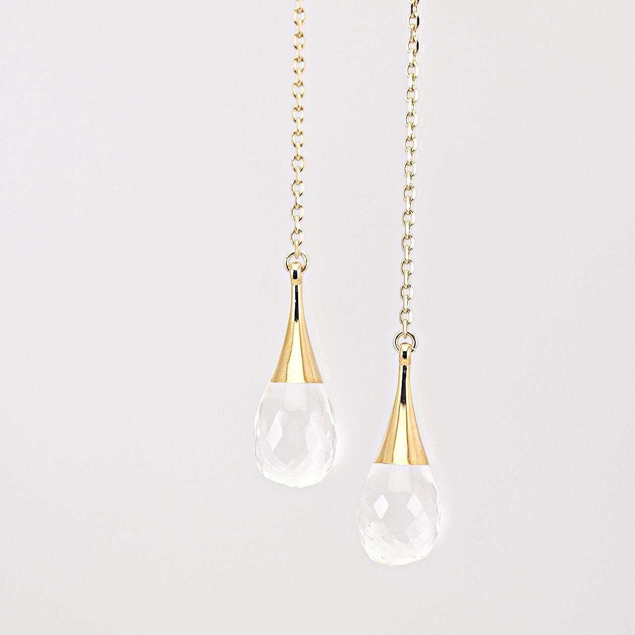 Drop american earrings / Quartz