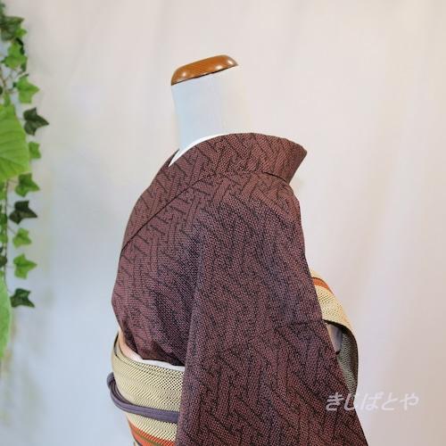 正絹紬 檜垣の総柄小紋 袷
