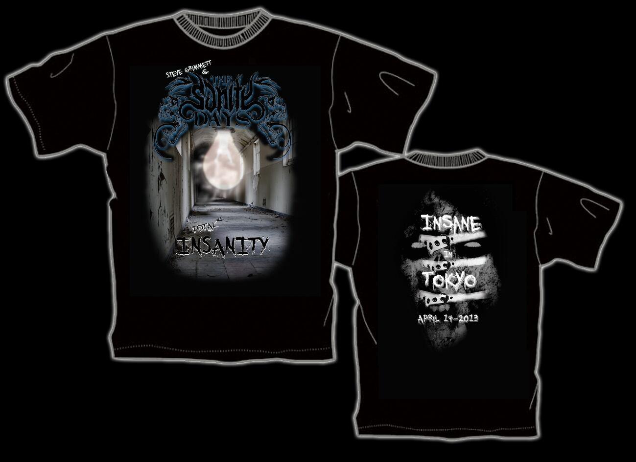 Steve Grimmett & The Sanity Days 初来日記念限定Tシャツ