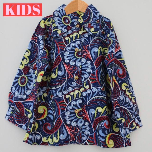【送料無料】【KIDS】VINTAGE 70's Patterned Shirt - British -Size 5/6 years old-
