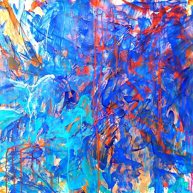 絵画 絵 ピクチャー 縁起画 モダン シェアハウス アートパネル アート art 14cm×14cm 一人暮らし 送料無料 インテリア 雑貨 壁掛け 置物 おしゃれ ロココロ 現代アート 抽象画 画家 : tamajapan 作品 : t-21
