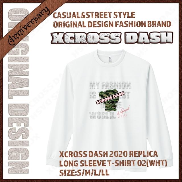 XCROSS DASH 2020 REPLICA Long sleeve T-SHIRT 02 (WHT) レプリカデザイン長袖Tシャツ