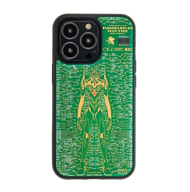 FLASH EVA01 基板アート iPhone 13Proケース 緑【東京回路線図A5クリアファイルをプレゼント】