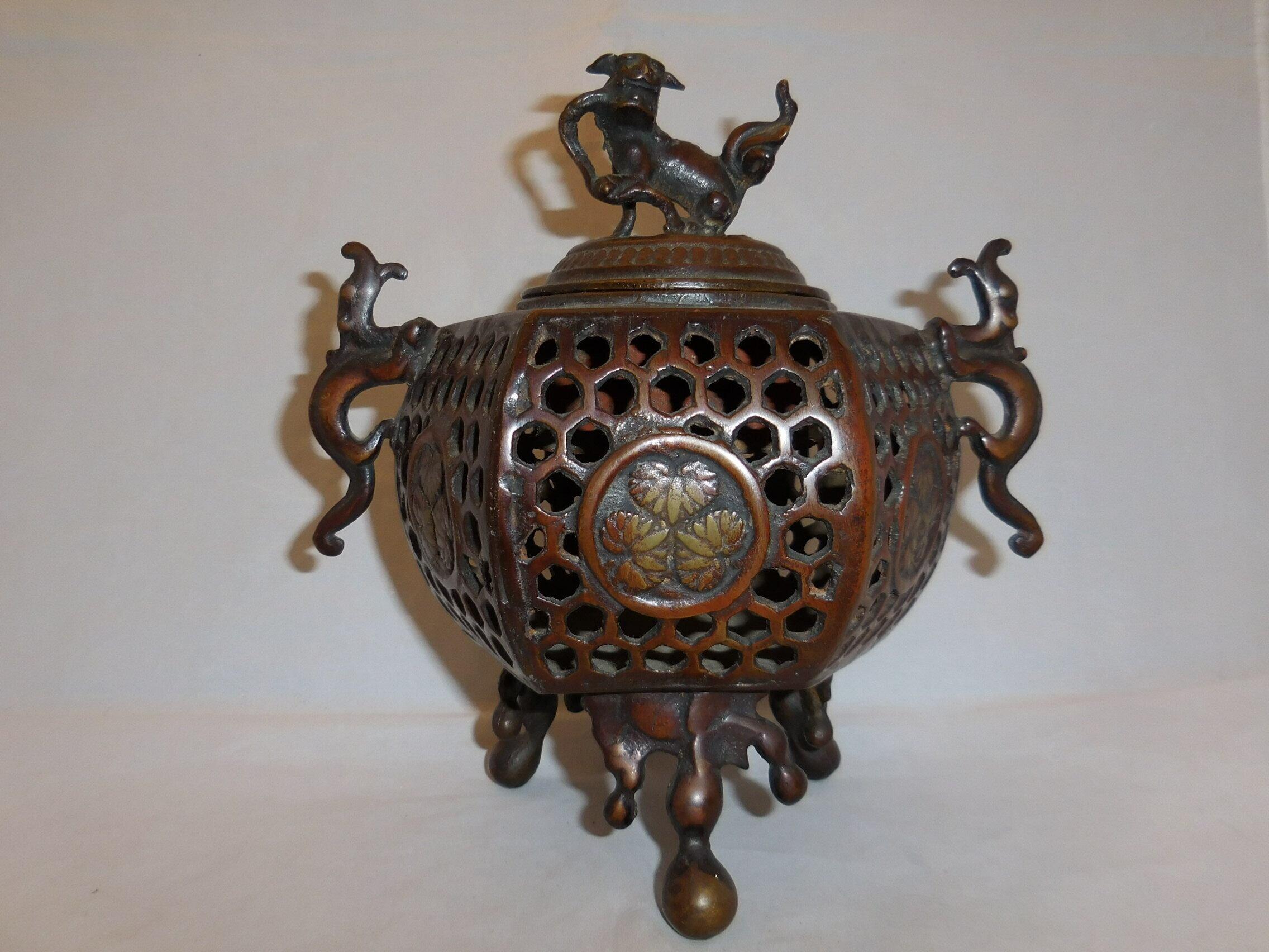 香炉 multi-metal incense burner (brown)
