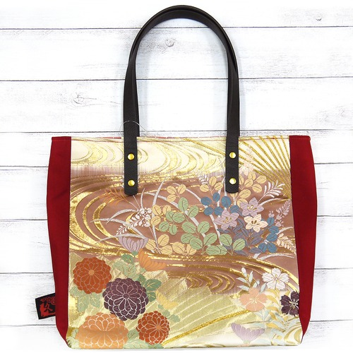 【Kuu工房】帯と帆布のハンドバッグ/バッグ