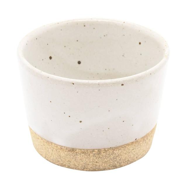萬古焼 藍窯 フリーカップ 直径9cm 160ml 「エスタ Esta」 赤土ホワイト AGM-200116