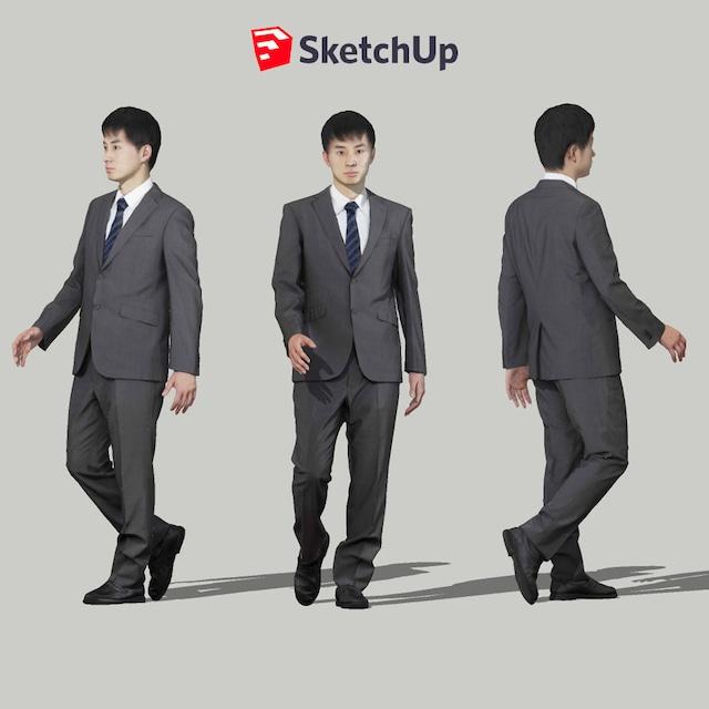 SketchUp素材 3D人物モデル ( Posed ) 101_Sota - メイン画像