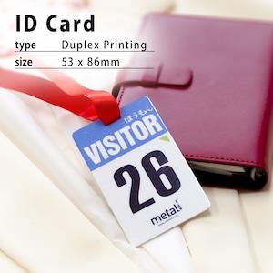 1個から注文OK★アルミ製社員証/アルミ製IDカード/カード型ネームタグ/イベントパス/スタッフパス/アルミプレート/偽造対策