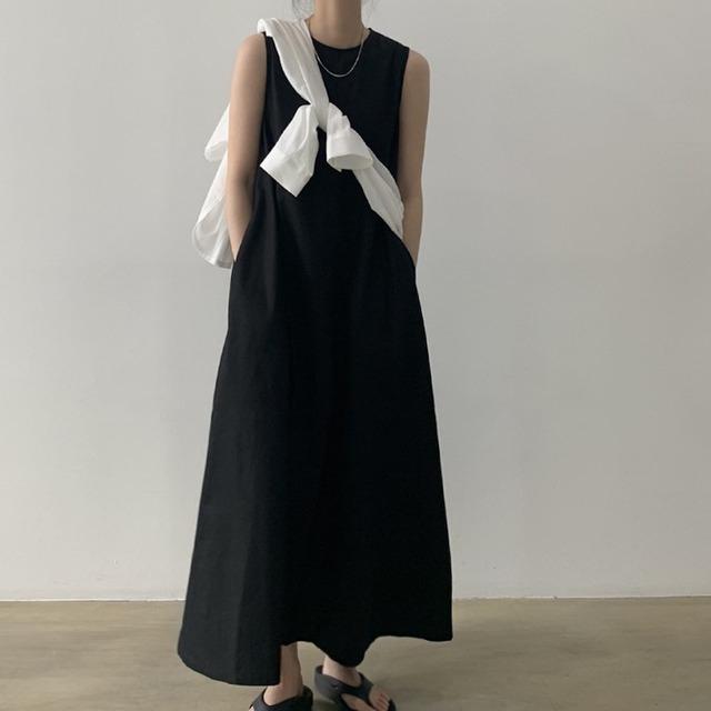 ノースリーブサマードレス 2colors