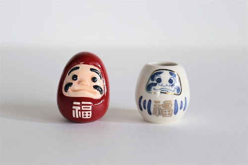 shuki 禅(だるまオブジェ・一輪挿し2点セット)
