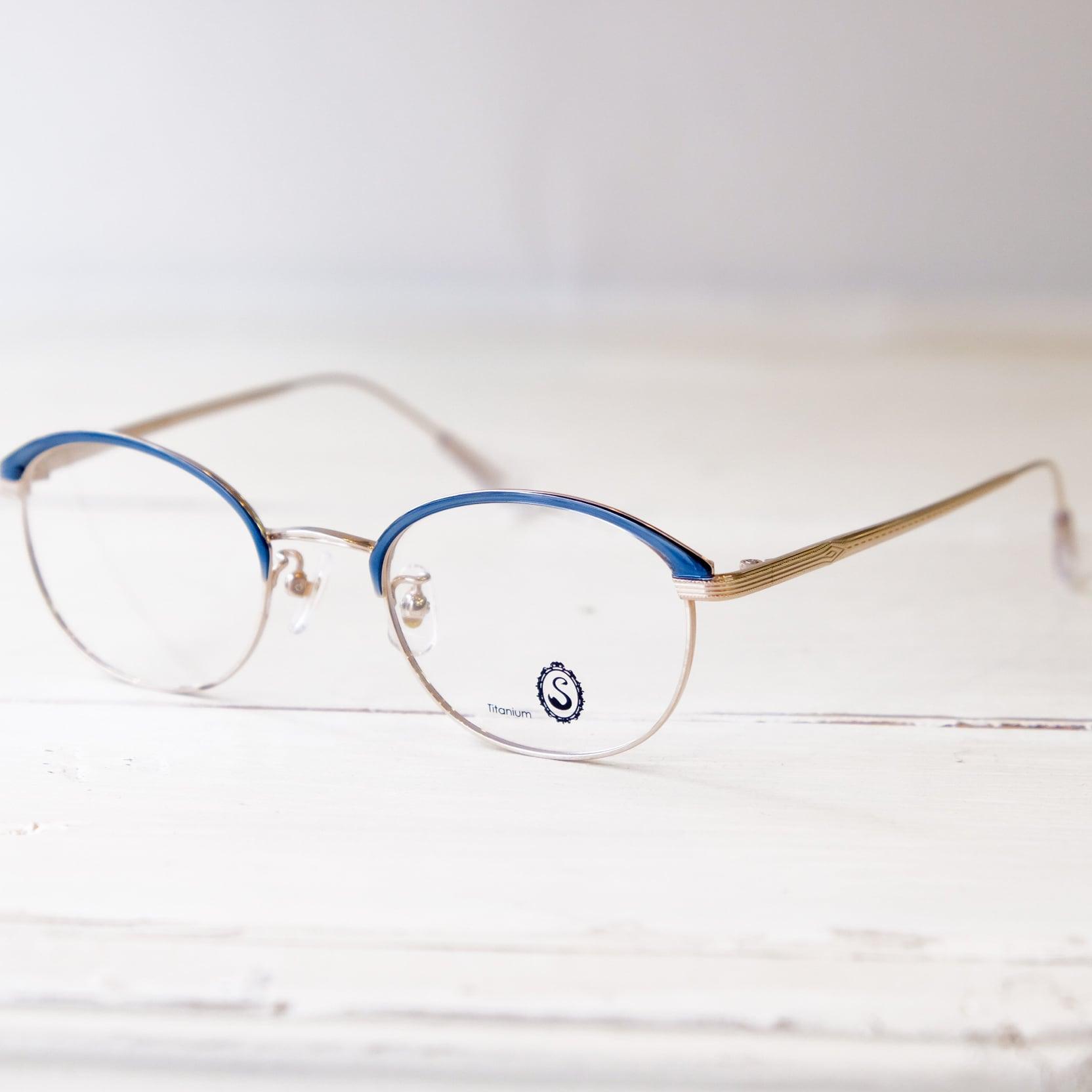 Seacret Remedy シークレットレメディ メガネ レディースブロウ S-040 / White gold +Smoke Blue