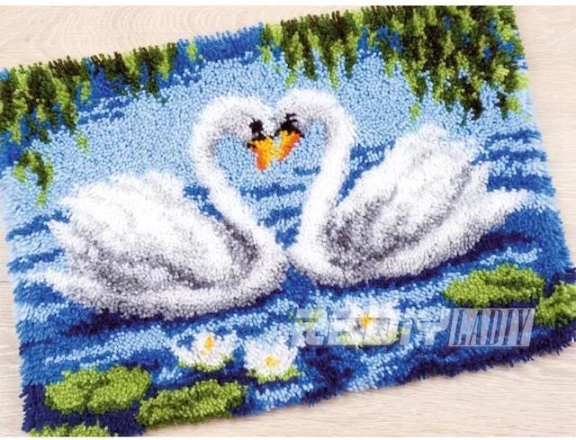 クロスステッチマット【no.025】ラッチフック刺繍