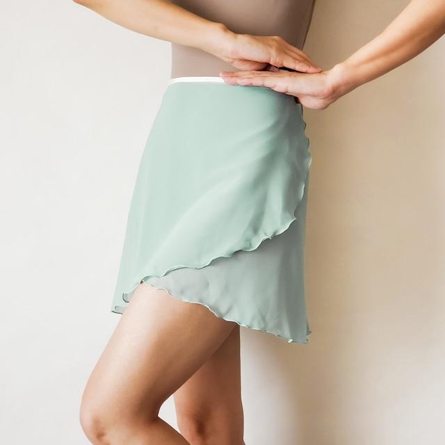 NORMAL wrap skirt【ソーダグリーン×クリーム】