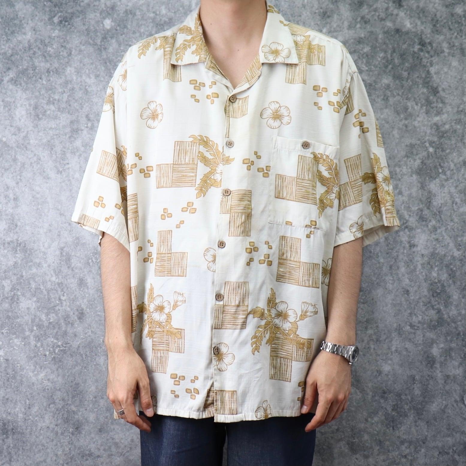 1990s   INDIA   Design   Rayon   Shirts   XXXL A252