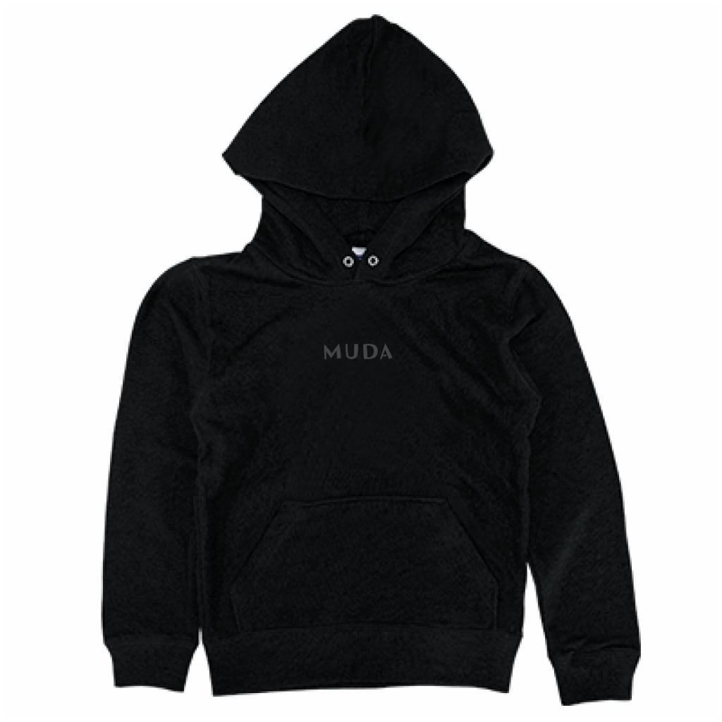 とうふめんたるずパーカー(MUDA・キッズ・黒)