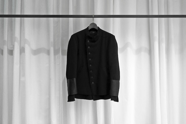 ASKYY / OFFICER COAT / BLK (LEATHER)