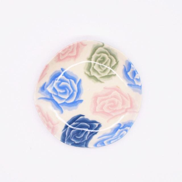 【限定1点 アウトレット品】瀬戸焼 練上げ豆皿 バラ 253097 豆豆市077