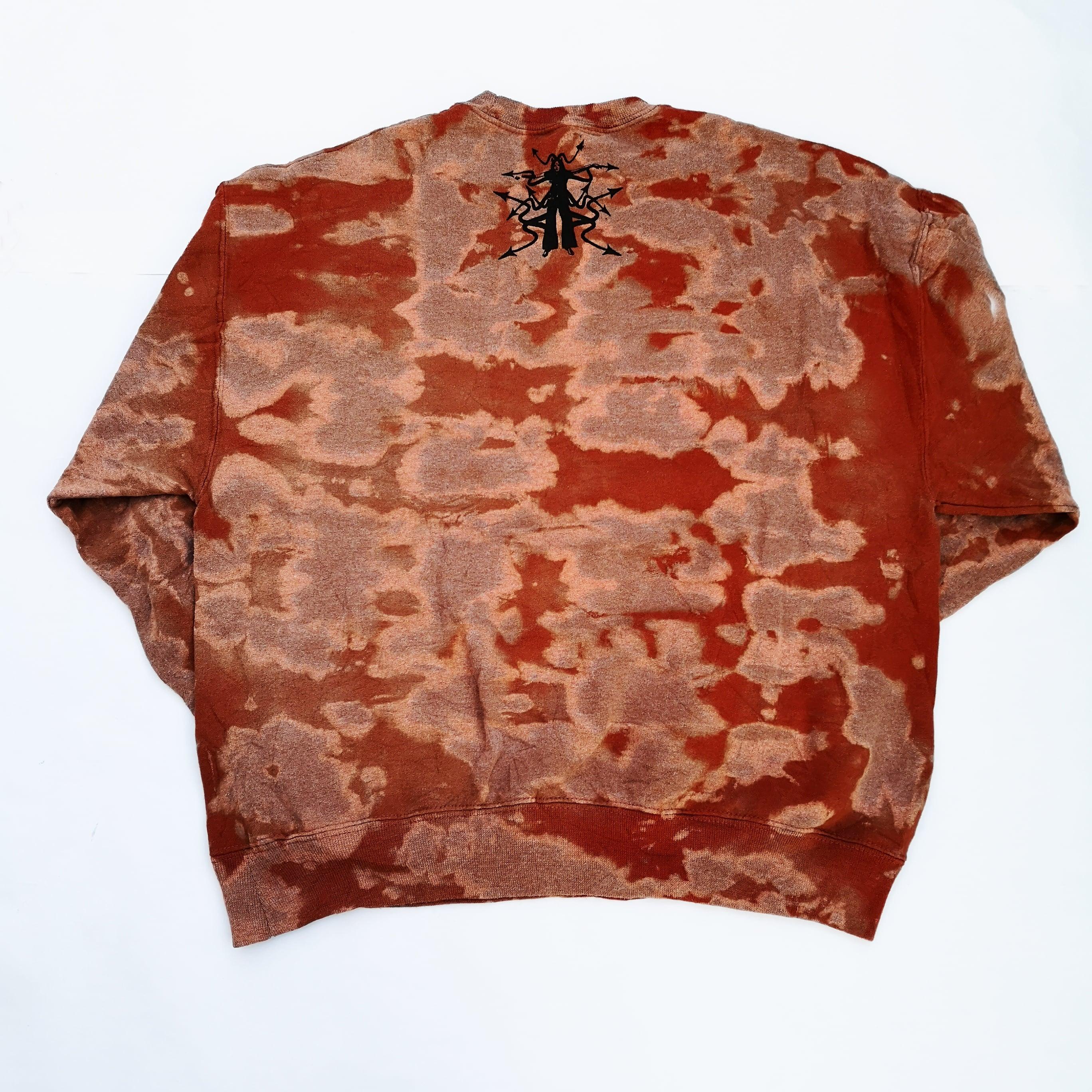 bizarro MANSON Tie-dye CREW NECK SWEAT