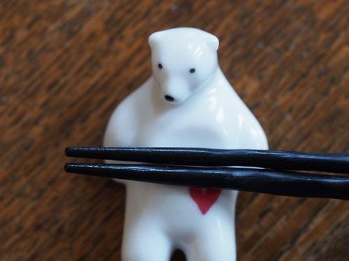 シロクマの熊五郎 箸置き(ハート)
