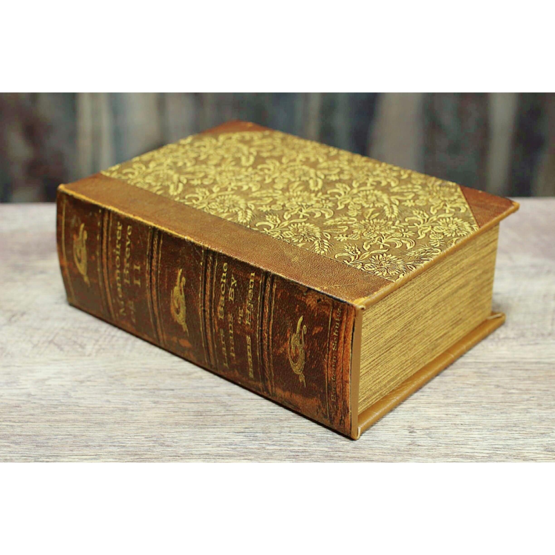 Bookボックス【ブラウン L】/シークレットボックス/アンティーク雑貨/浜松雑貨屋C0pernicus