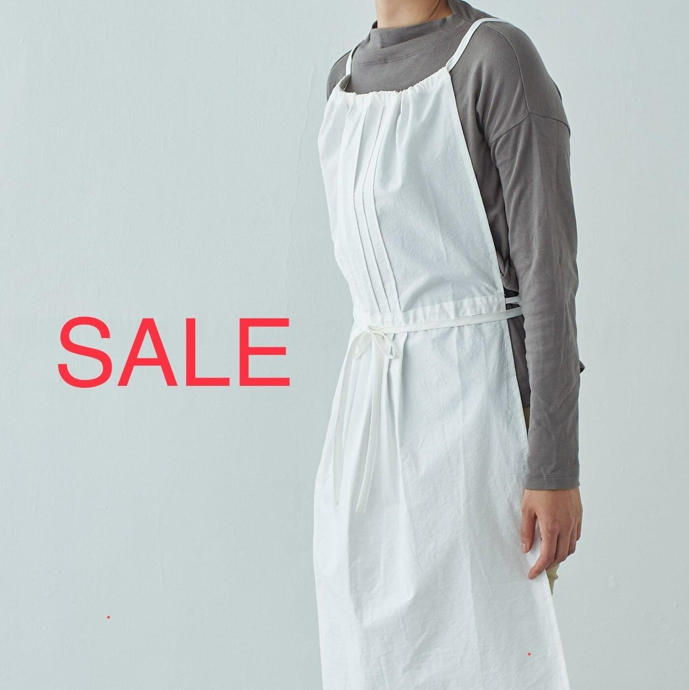 SALE 30%OFF タックエプロン tuck apron / コットン cotton