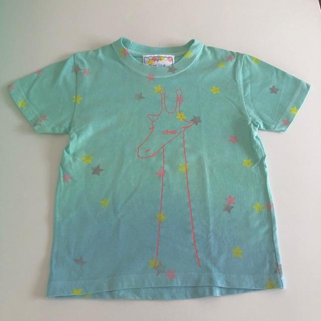 受注制作 kidsTシャツ「キリン カラフルスター」80cm~140対応