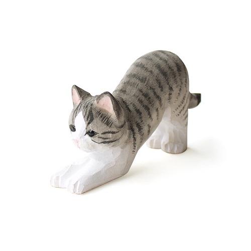 猫メガネホルダー(ウッデンアニマルキャット)サバ