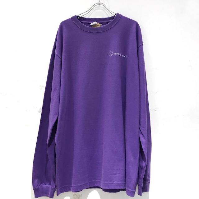 【受注生産】Connecter Tokyo back print logo long sleeve tee purple