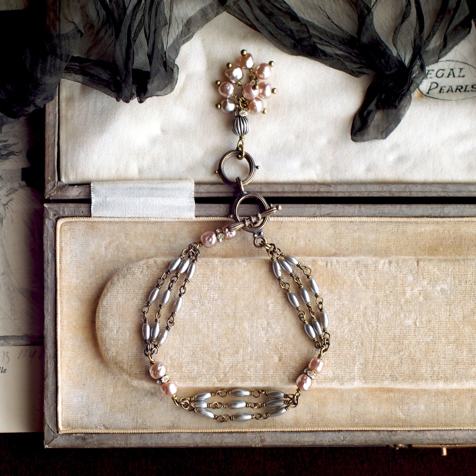 カーテンコール / ブレスレット(GlassPearl silver系)