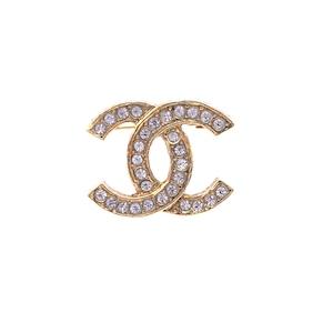 CHANEL シャネル ココマーク ココ ストーン  ブローチ ゴールド オールド vintage ヴィンテージ kn56w7
