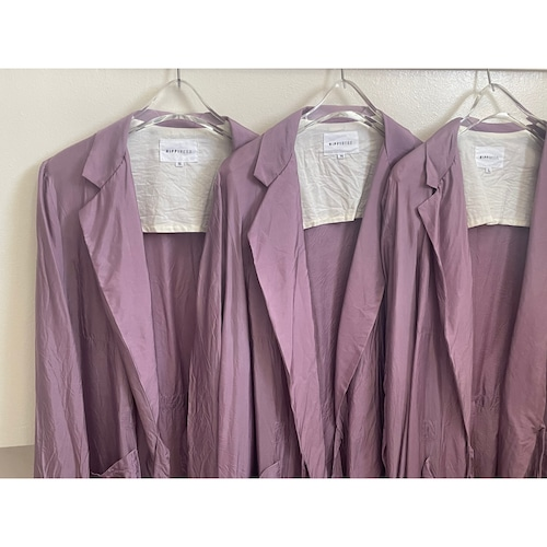 【hippiness】cupro coat(light purple)/【ヒッピネス】キュプラ コート(ライトパープル)
