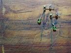 decoravive chain peridot earrings