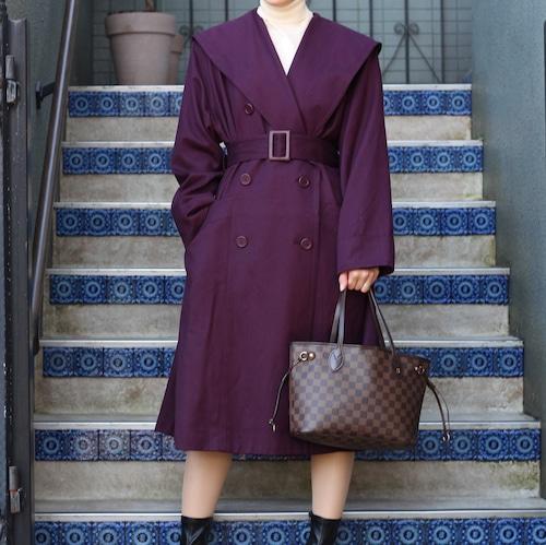 .Christian Dior BIG COLLAR WOOL BELTED COAT/クリスチャンディオールビッグカラーウールベルテッドコート2000000055541