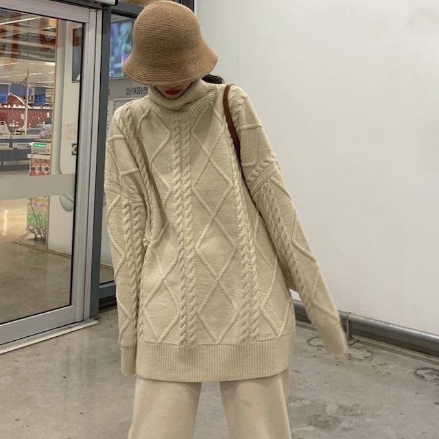 ざっくりゆったり着て欲しい♡ルーズニットセーター