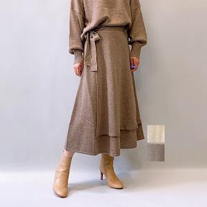 OUTERSUNSET(アウターサンセット) knit wrap skirt 2021秋冬新作 [送料無料]