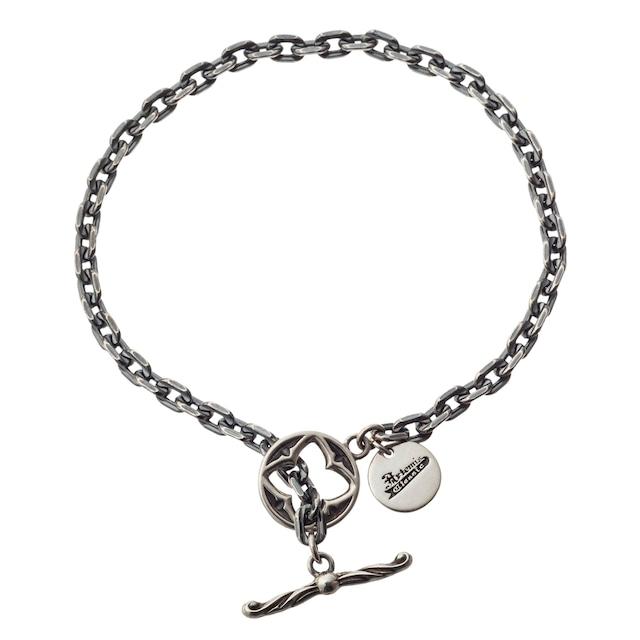 シルバーチェーンTバーブレスレット01 ACB0116 Silver chain T-bar bracelet 01